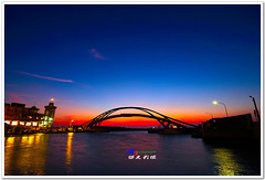 SDIM9142 ( or Jeff) Tags: ocean voyage bridge blue sunset sea sky nature water colors night clouds buildings real coast twilight place shot taiwan sigma explore   1020mm discovery  seeking scenes      nightfall afterglow  foveon landscap    x3      glimmering 18200mm    sd15