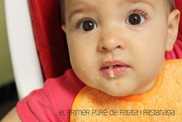 El primer puré de patatas y zanahoria