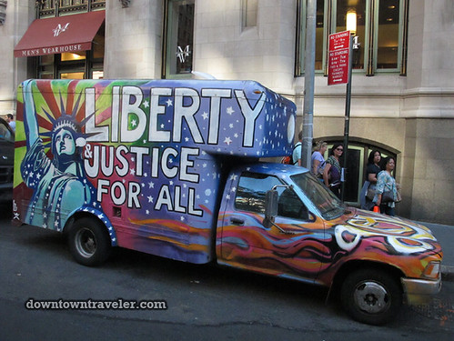 NYC Occupy Wall Street Rally Oct 8 2011 liberty car