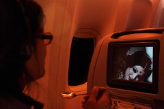 PIA In-Flight Entertainment (klodhie) Tags: old pakistan film vintage movie airplane seat watch flight entertainment international pakistani kiran airlines pia lahore lodhie