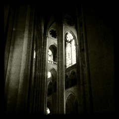 Interior, The Cathedral Church of Saint John the Divine, New York City (Kalloosh) Tags: new york city bw church st john square cathedral divine uws iphone notholga hipstamatic
