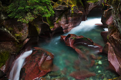 Avalanche Creek (posthumus_cake (www.pinnaclephotography.net)) Tags: longexposure blue autumn red color green nature water beautiful beauty stone zeiss creek canon river landscape eos moss montana stream jasper mt outdoor tripod scenic canyon september glacier 5d rockymountains glaciernationalpark gitzo ze manfrotto 235 carlzeiss avalanchecreek canoneos5d distagont235 distagon352ze carlzeissdistagont235ze