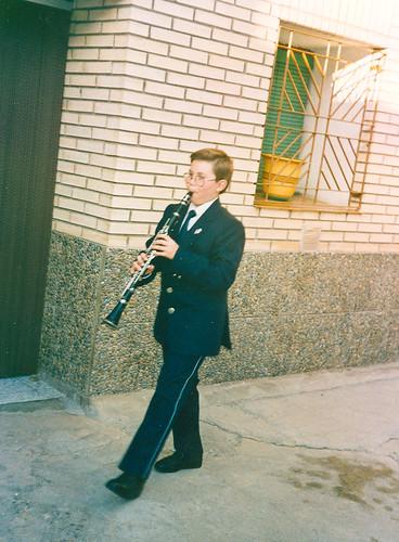 Ejerciendo con el clarinete