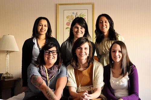 Amanda H, Kait, Karyn, Amanda J, Katherine & Jeni