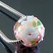Charm bead : Pink rose garden