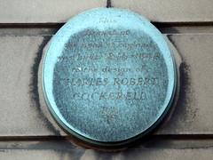 Photo of Charles Robert Cockerell bronze plaque