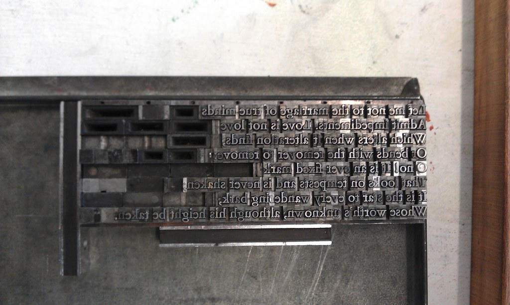 Type set in galley