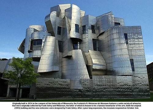 University of Minnesota, the Frederick R. Weisman Art Museum by artimageslibrary