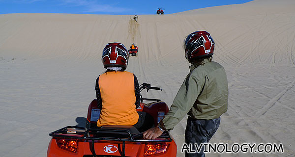 As we got more familiar, we were taught how to charge full throttle up steep dunes