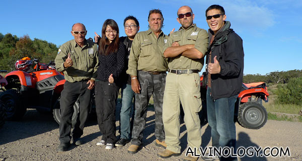 Group shot with the awesome guys from Sand Dunes Adventure