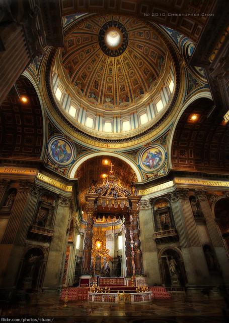 italy vatican stpeters rome church canon europe catholic basilica bernini 1022mm baldacchino 30d