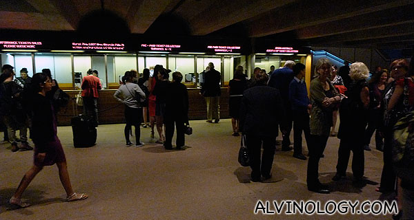 The ticketing area where we met up with Anna