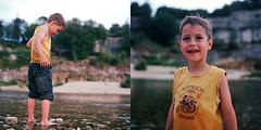 Roman (Stephane VENDRAN) Tags: water river child australia hasselblad 160vc portra australie 501cm