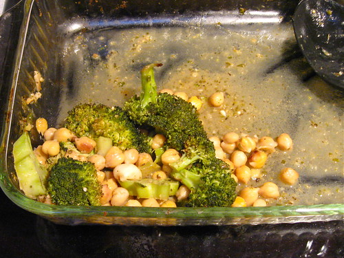 40-Clove Chickpeas & Broccoli leftovers