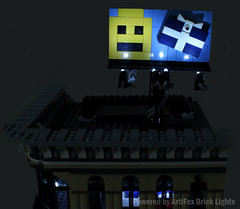 8-2 Roof sign (Artifex creation) Tags: city lights town lego led creator grandemporium 10211 bricklights