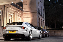 Ferrari Four. (Alex Penfold) Tags: auto road park camera london cars alex sports car sport mobile canon silver four photography eos for hotel berkeley ph
