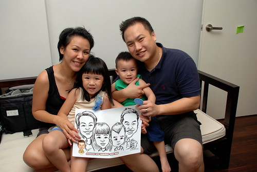 Caricature live sketching for Jonah's birthday party - 21