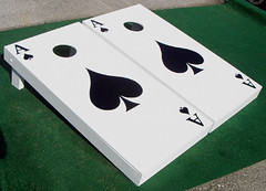 Ace of Spades Poker Cornhole Boards