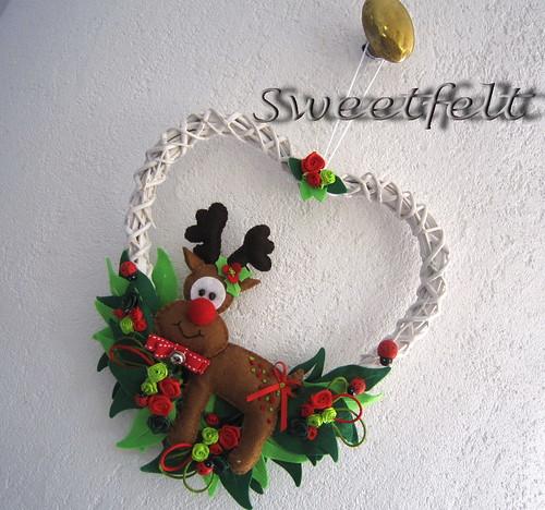 ♥♥♥ Coroa Rudolfinha ... by sweetfelt \ ideias em feltro
