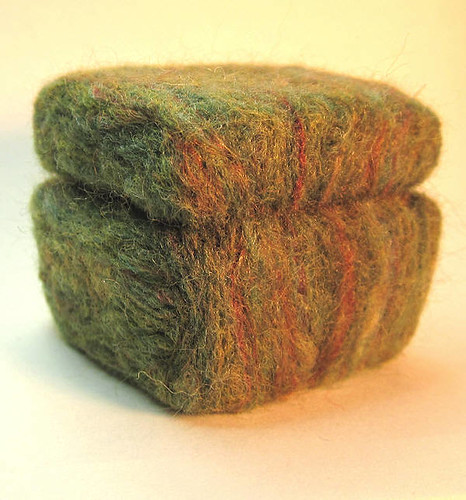 Felted box, closed