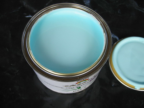 Furniture painting turquoise