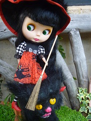 I think you are meant to ride the BROOM and not the Kitty Tigerlily!!
