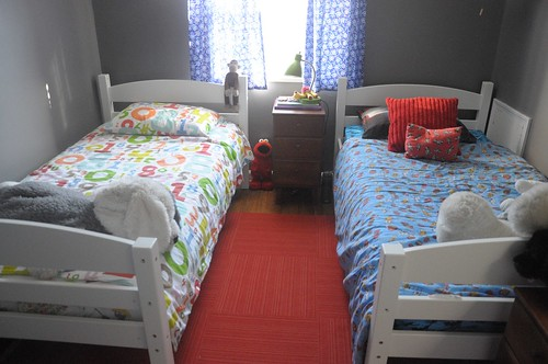 twin beds in shared bedroom