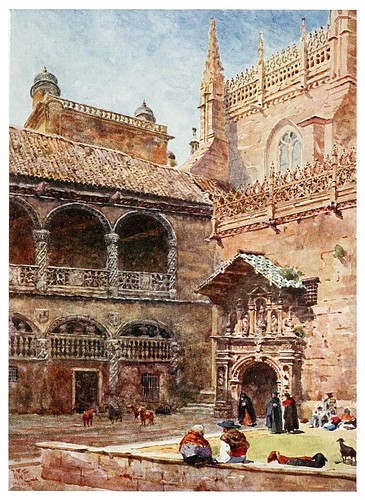 007-Granada exterior de la catedral-Cathedral cities of Spain 1909- William Wiehe Collins