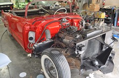 "1956 Series 62 Red Convertible Cadillac restoration • <a style=""font-size:0.8em;"" href=""http://www.flickr.com/photos/85572005@N00/6302989545/"" target=""_blank"">View on Flickr</a>"