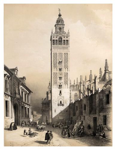 020-La Giralda de Sevilla-España artística y monumental..Tomo II- 1842-1850-Genaro Perez de Villa-Amil
