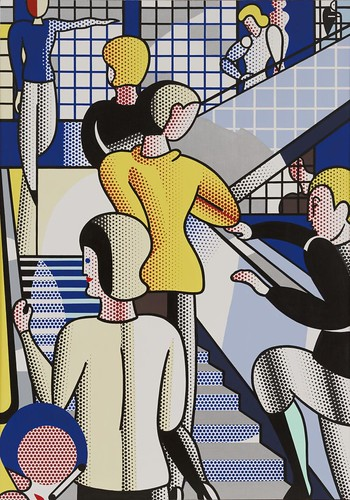 Roy Lichtenstein - Bauhaus Stairway [1988] by Gandalf's Gallery