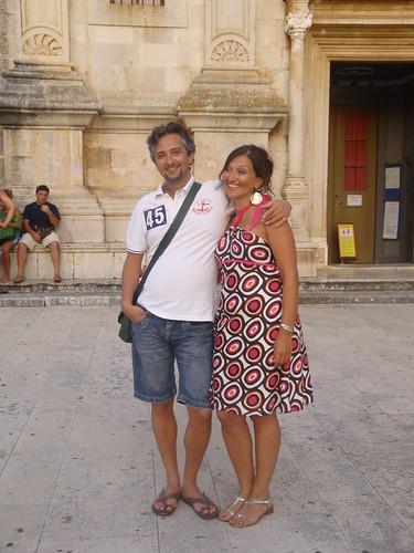 gli sposi Eva e Davide, in vacanza a Parigi