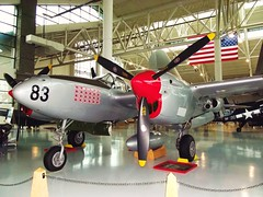 Lockheed P-38 Lightning Evergreen Aviation & Space Museum (PeaceLoveScoobie) Tags: history museum oregon airplane space aircraft aviation air wwii evergreen ww2 restoration lightning lockheed worldwar preservation mcminnville p38 f5g 49thfightergroup geraldrichardjohnson 54thpursuitgroup evergreenaviationspace