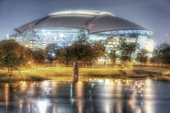 Cowboys Stadium HDR (Dave DiCello) Tags: night arlington reflections nikon texas dallascowboys hdr highdynamicrange photomatix tonemapped colorefex cowboysstadium d700 nikond700 ononephototools