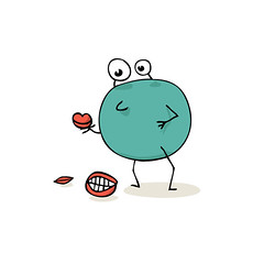 Lippen-picken (natasa10) Tags: illustration lips pick picking