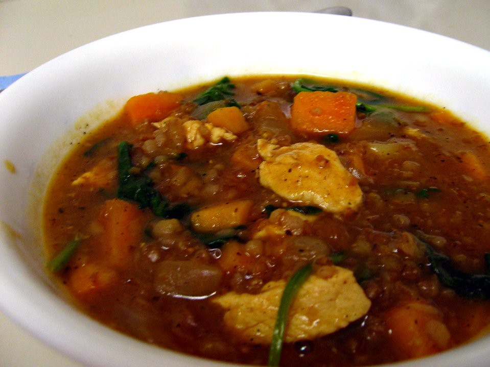 Spicy Chicken and Bulgar soup