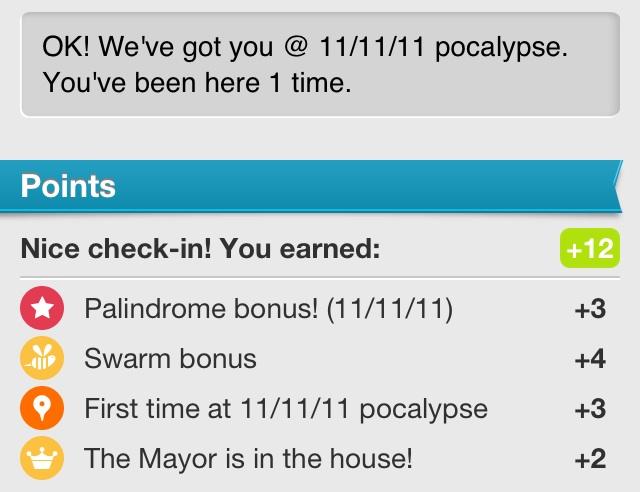 Foursquare Palindrome Bonus