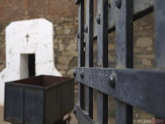 La Carcel de Cananea (johnny lamb) Tags: travel arizona sonora digital fence mexico song border cell traditions olympus jail copper bisbee zuiko cananea e410 zd1442