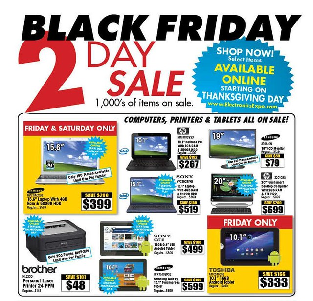 Electronics Expo Black Friday 2011 Ad Scan - Page 7