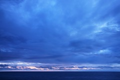 infinite duvet (b_benjamin_b) Tags: blue sunset sea newzealand sky cloud seascape clouds landscape kitlens bluehour aotearoa cloudcover moana sugimoto orongorongo infiniteduvet