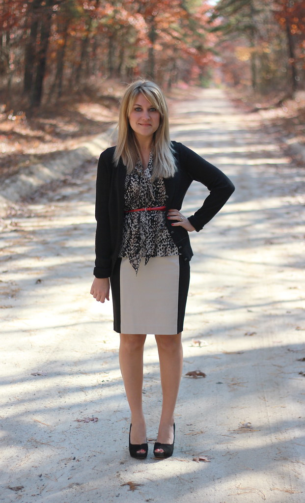 Snakeskin Business Casual Outfit Work idea