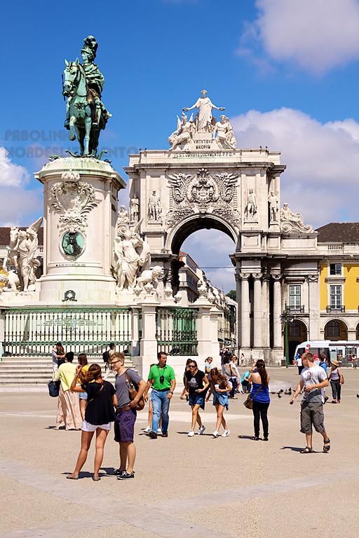 Turistas en Lisboa