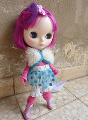 Sofia wearing lalaloopsy clothes,hahaha...