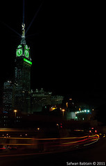 Makkah Clock - Night (Safwan Babtain -  ) Tags: world street travel clock by night nikon 10 taken sigma explore hour 300 20 1020mm tamron higher 1020  makkah safwan   18200mm           d300s babtain