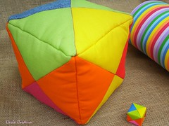 papel & tecido (Carla Cordeiro) Tags: origami puff papel patchwork almofada colorido vidasimples