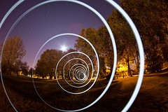 Super String Theory (Light Painting), Mill End (flatworldsedge) Tags: trees light moon mill painting spiral suburbia fisheye end canopy zenitar rickmansworth advancedphotographer yahoo:yourpictures=light