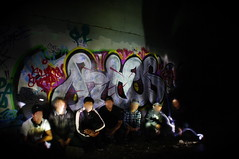 Rtes One (El Funky Taladro) Tags: santa county orange black green one graffiti ana los lab angeles more graff merce ruche knd rusko mewt rtes deew rueks jces
