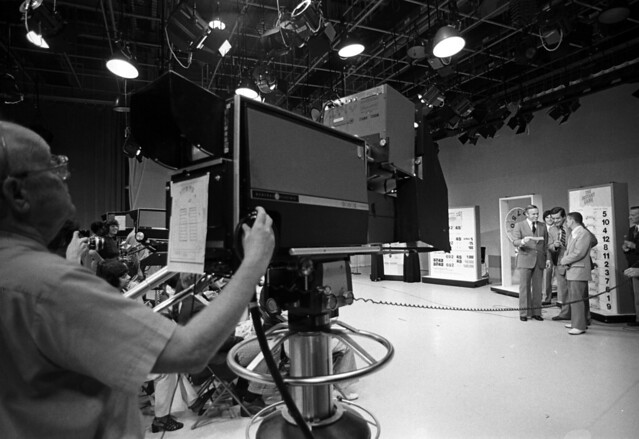 Drawing for LOTTERY WINNERS, Boston TV studio