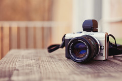 Olympus E-PL1 + Canon 50mm F1.4 FD (55Laney69) Tags: pen canon gear olympus equipment adapter 5d canon50mmf18 fullframe viewfinder cameraporn mft mki vf2 alienskinexposure efii epl1 microfourthirds canon50mmf14fd canon5dmk1