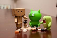 Rock Stack Attempt #? (12/52) (vmabney) Tags: canon toys domo dslr uglydolls danbo revoltech danboard